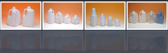 water and dairy bottles